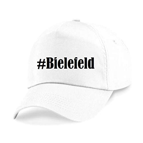 Reifen-Markt Base Cap Hashtag #Bielefeld Größe Uni Farbe Weiss Druck Schwarz