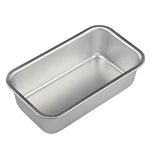 Cabilock 4pcs Loaf Pan Metal Rectangle Bread Toast Mold Non Stick Bakeware for Homemade Cakes Breads Meatloaf Silver