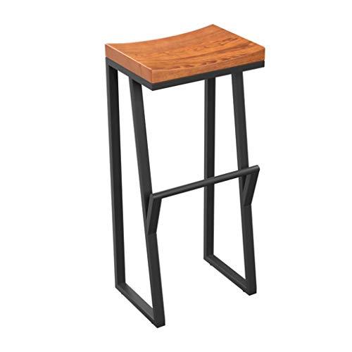 Fester Stab-Stuhl Eisenstuhl Schmiedehoch Hocker Holz Freizeit Bar Stuhl Vorder Stuhl Kaffee Stuhl (Size : 85cm)