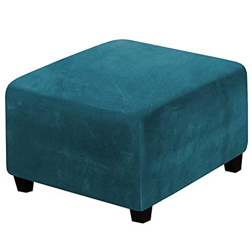 WYYUE Terciopelo Fundas Otomana - Funda de Reposapiés Sofa Elastica Protector - Funda Otomana para Taburete
