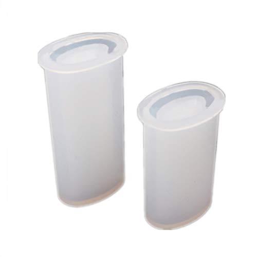 Baiyao 2 moldes universales de resina de silicona para encendedor de cigarrillos, molde de resina epoxi para hacer joyas, manualidades