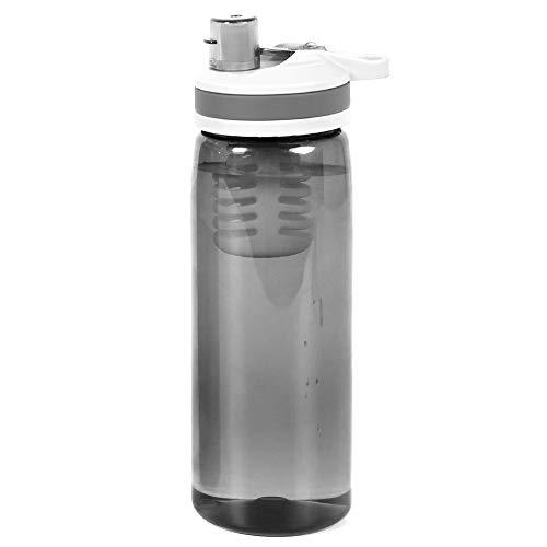 Filtre de Rechange sans Logo pour Bouteille d'eau purificateur de Filtration d'eau pour extérieur d'urgence, Camping, randonnée, Voyage, Gris