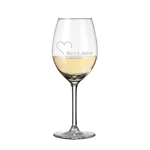YourSurprise Weißweinglas mit Gravur Personalisierbar mit Namen - Weinglas Graviert mit Namen: Personalisierbar mit Text, Verschiedenen Designs und Schriftarten (1)