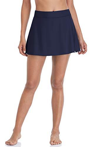 beautyin Bathing Suit Bottom Skirt for Women Navy Swim Skirt Swimsuit Swim Skort