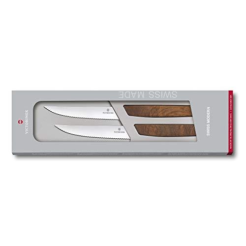 VICTORINOX(ビクトリノックス)ステーキナイフセットウォールナット12cmスイスモダンステーキナイフ6.9000.12WG2ピースブラウン
