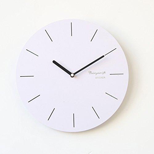 SXWY scandinave Moderne caf/é en Fer forg/é Horloge Murale 16 Pouces /éternelle Classique Simple /échelle Circulaire Horloge Gold