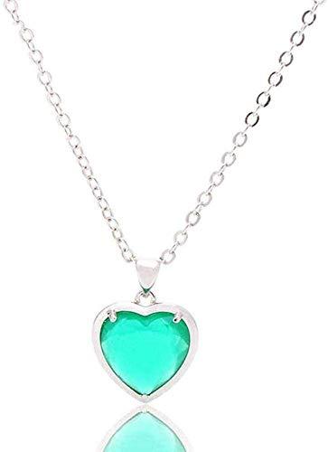 Collar de moda Collares pendientes de piedra para mujer Collar colgante de cristal verde con borde plateado envuelto con piedras preciosas naturales con cadena de plata Regalo de joyería