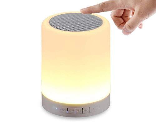 Devcool LED Touch Lamp Bluetooth Speaker, Wireless HiFi Speaker Light, USB Rechargeable...