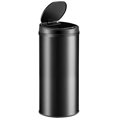 Monzana Sensor Mülleimer 56L Automatischer Mülleimer LED Display Müllbehälter berührungslos Bewegungssensor wasserdicht