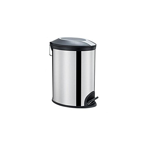 Poubelle en acier inoxydable, salle de séjour cuisine salle de bains chambre à coucher poubelle pédale joint créativité poubelle 22 * 35 * 40.5cm (taille : 22 * 35 * 40.5CM)