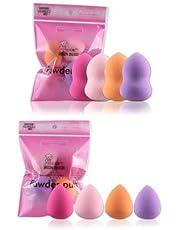 URBANMAC Beauty Foundation Cream Powder Liquid Blender Sponge Puff Set of 4