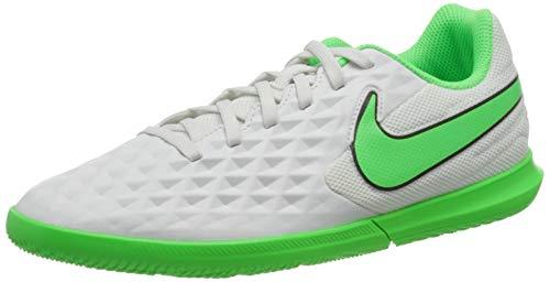 Nike Legend 8 Club IC, Football Shoe Hombre, Platinum Tint/Rage Green-Black, 42 EU