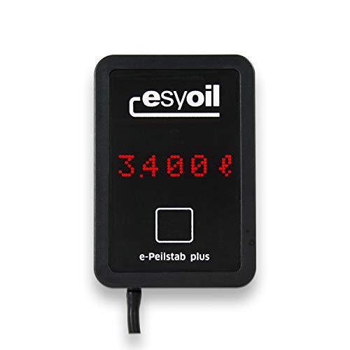 NEU esyoil e-Peilstab plus: elektronische Heizöl Füllstandsanzeige, misst besonders präzise, Anzeige in Liter, Zentimeter und Prozent, einfache Montage, digitale Tankanzeige zur Füllstandsmessung