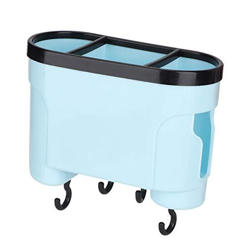Rejilla de drenaje de 7.1 * 5.1 * 3.1In, soporte para herramientas de cocina, soporte para utensilios de cocina con orificio de drenaje, cuchara, palillos, almacenamiento para(sky...