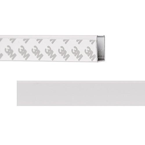 Lichtblick RSP.130.01 Seitenprofil Klebfix für Thermo-Rollo mit Kassette - Weiß Weiß 130 cm
