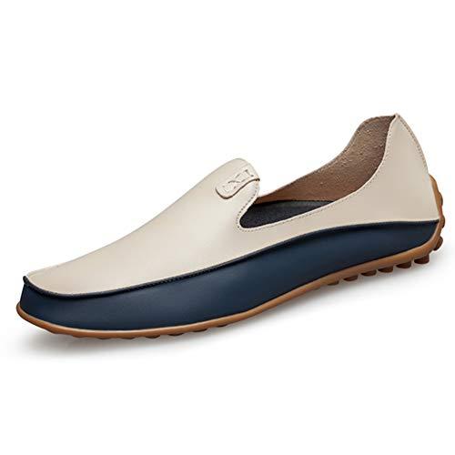 Leobtain Men Mocasines de Conducción Barco Informal Zapatos de Cuero Zapatos Deslizamiento Ligero en Mocasines