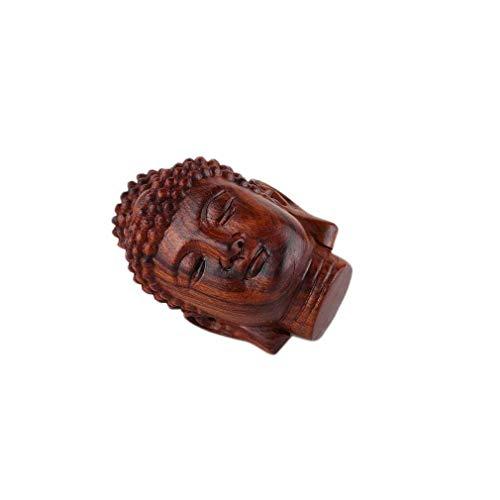 lachineuse Cabeza de Buda de Madera.