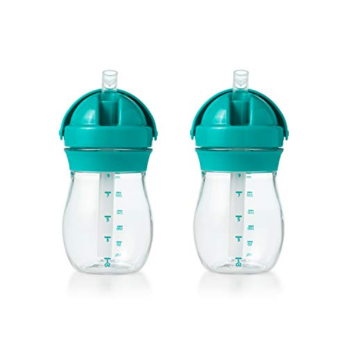OXO Tot Transitions Straw Cup, 9 oz, Teal, Pack of 2