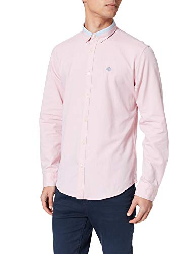 Springfield Camisa Pinpoint Chemise, Rose, XL Homme