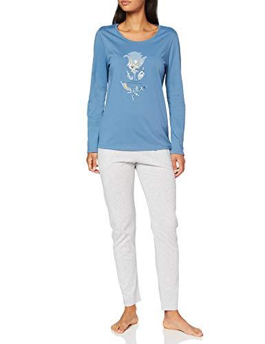 Triumph Damen Sets PK 02 LSL Pyjamaset, Blue Snow, 38