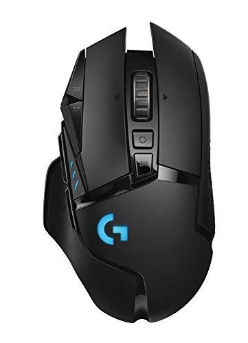 Mouse Gamer Sem Fio Logitech G502 LIGHTSPEED com HERO 16K, RGB LIGHTSYNC, Ajuste de Peso, 11 Botóes Programáveis, Compatível com POWERPLAY