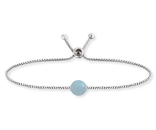 Engelsrufer Damen-Armband Silber Kraftstein Blauer Achat ERB-LILGEM-BA