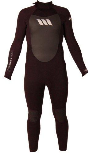 West Nitro GBS 4/3-altere para Hombre, Hombre, Wetsuit Nitro GBS Long Sleeve Back Zip Steamer, Grigio - Grafite, MT