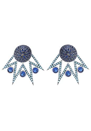 LATELITA Jester Ear Jacket Pendientes convertibles Azul Plata