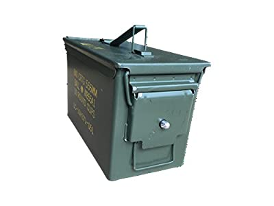 50 Cal Ammo Can with Lock Kit Installed by ACM (Grade 1 50 Cal w/Locking Kit Installed)