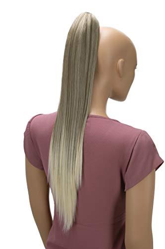 PRETTYSHOP 60cm Haarteil Zopf Pferdeschwanz Haarverlängerung Glatt Dunkelblond Mix H637