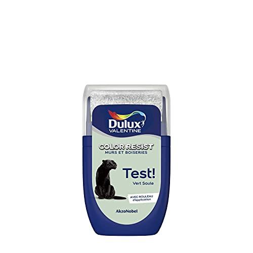 Dulux Valentine Peinture Color Resist - Murs et Boiseries - Mat - Testeur Couleur Vert Saule 30 ml