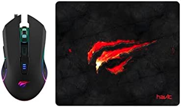 Mouse Gamer Havit + Mouse Pad Gamer Speed 250x210mm Havit