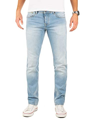 Yazubi Jeans Herren Edvin Slim - Jeans Hosen für Männer - hellblau Vintage Denim Stretch Hose Jeanshose Regular, Blau (Flint Stone 183916), W33/L30