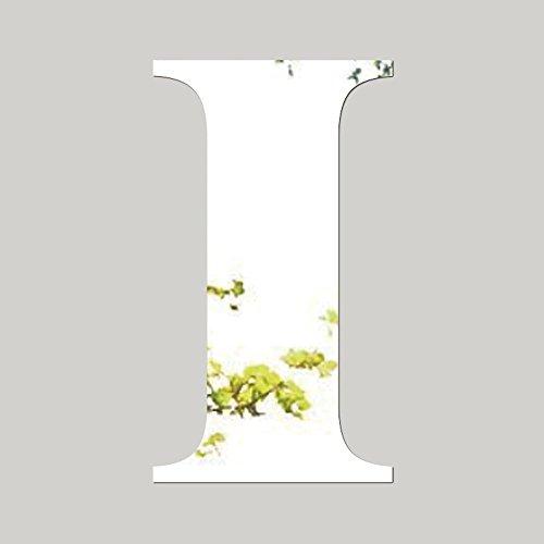 Adhesivos de pared con espejo, 26 letras, de acrílico plateado, para pared, azulejos, decoración, manualidades, murales para guarderías, dormitorios, salas de estar, baño, decoración, plata, I