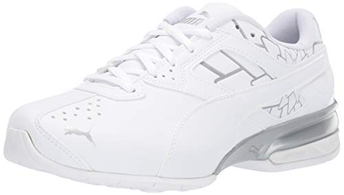 PUMA Women's Tazon 6 Shoe, Puma White-Puma Silver, 6 M US
