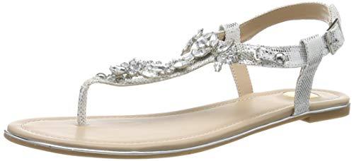 Buffalo Shoes Damen 14S07-21 Zehentrenner, Grau (Silver 000), 38 EU