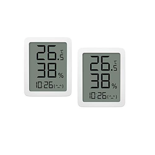Homidy Pack de 2 termómetros higrómetro digital de 3,5 pulgadas, pantalla grande HD, medidor de humedad, sensor de temperatura de alta precisión