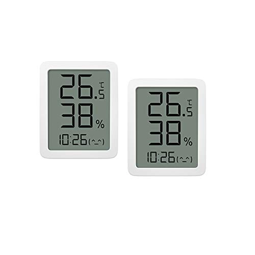 Homidy 2er Pack Indoor Thermometer Digitaler Hygrometer HD Großbildschirm Feuchtigkeitsmessgerät Hochpräzise Temperatursensor