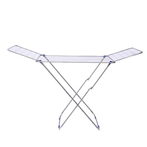 NIBABA Tendedero Rack de Alambre Piso de Secado en Forma de ala en Forma de Secado en Forma de Mariposa en Forma de Mariposa. Tendedero Plegable (Color : Silver, Size : One Size)