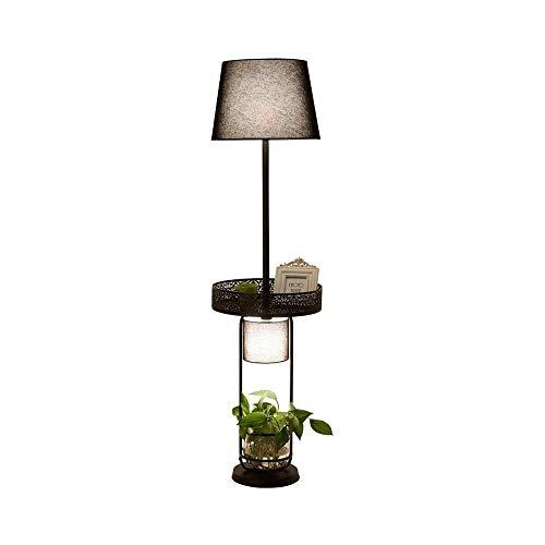 SXRKRZLB Simples Creativa Home Living Lámpara Estante de Almacenamiento Lámpara de pie Moderna de América del País lámpara de cabecera del Dormitorio del Hotel Sala de máquinas de la lámpara