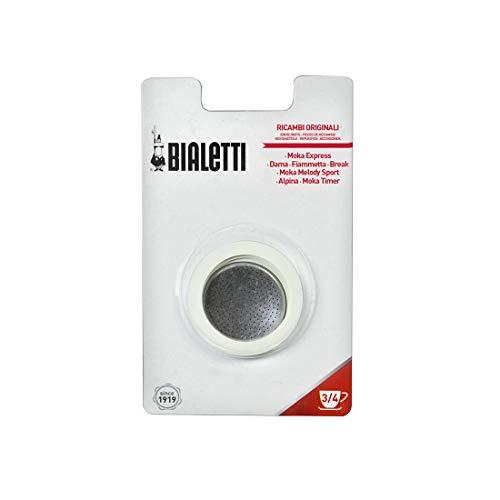 Bialetti 0800003 Filtre à café pour machine à café ( 1 filtre plat et 3 joints)