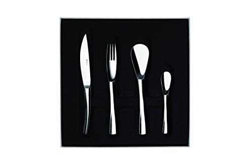 Degrenne 207974 Set mit 24 Stück, Monoblock, Klinge Uni, Edelstahl, silberfarben, 29 x 29 x 6,5 cm