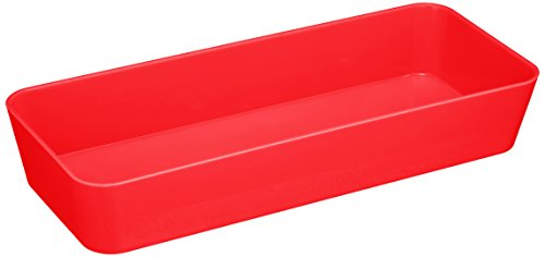 WENKO 20292100 Ablage Candy Red schmal, Kunststoff - Polystyrol, 24 x 4 x 10 cm, Rot