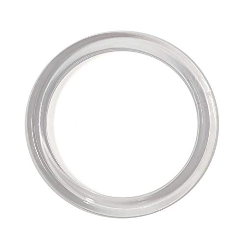 Clear Plastic Retail Scarf Rings - Round Fine Garment Hangers - 2.58' ID - 3.25' OD - 50 Pack