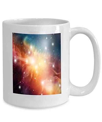 Kaffeebecher Astrologie Mystischer Hintergrund Weltraum Digitales Universum Galaxie Hintergrund Bunte Fantasie