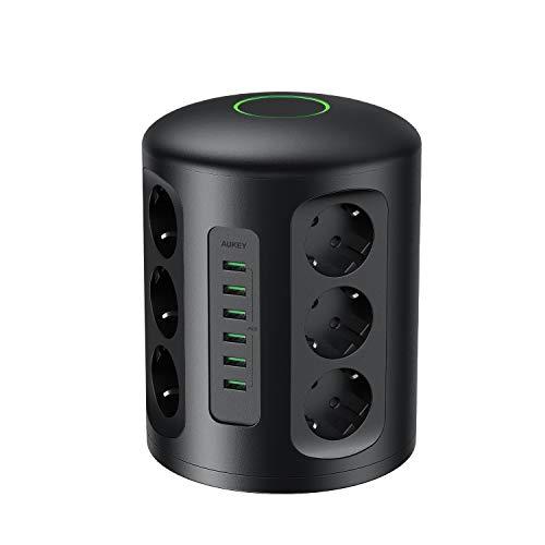 Ciabatta multipresa da scrivania e powerbank wireless by Aukey