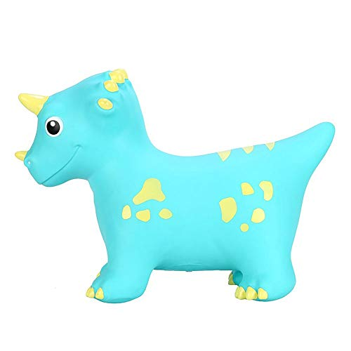 HYY Vaulting horse toy, plastic rocking horse, children's rocking horse toy, suitable for babies from 1-3 years old, children's inflatable pony horse, blue/pink/green (Color : Blue)