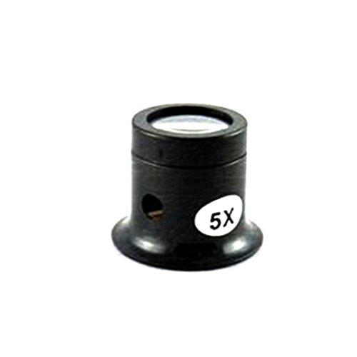 Tragbares Vergrößerungsglas mit 5-facher Vergrößerung, monokulare Lupe, ideales Werkzeug für Juweliere