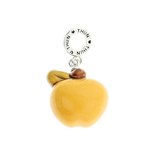 THUN - Charm Mela per Bracciale - Collezione My Charms - Gioielli Donna - Ottone Rodiato, Ceramica