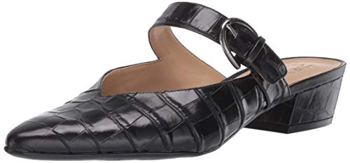 Naturalizer Women's Bess Mules Clog, Black Leather, 4 M US